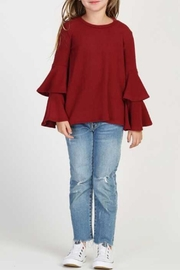 GOOD GIRL Tiered Girls Sweater - Front cropped