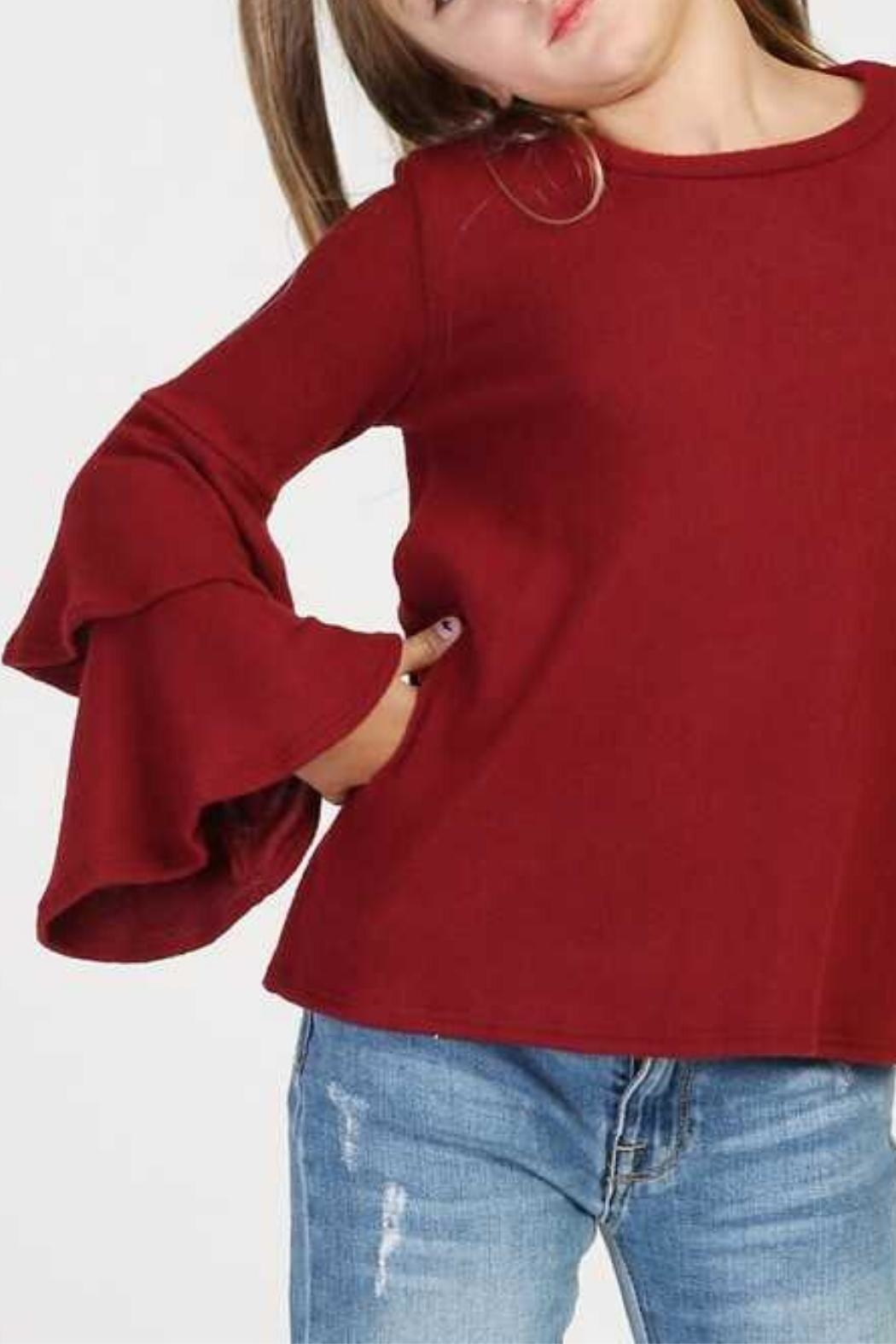 GOOD GIRL Tiered Girls Sweater - Front Full Image