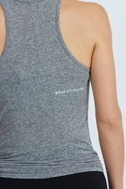 good hYouman But First Workout Tank - Side cropped