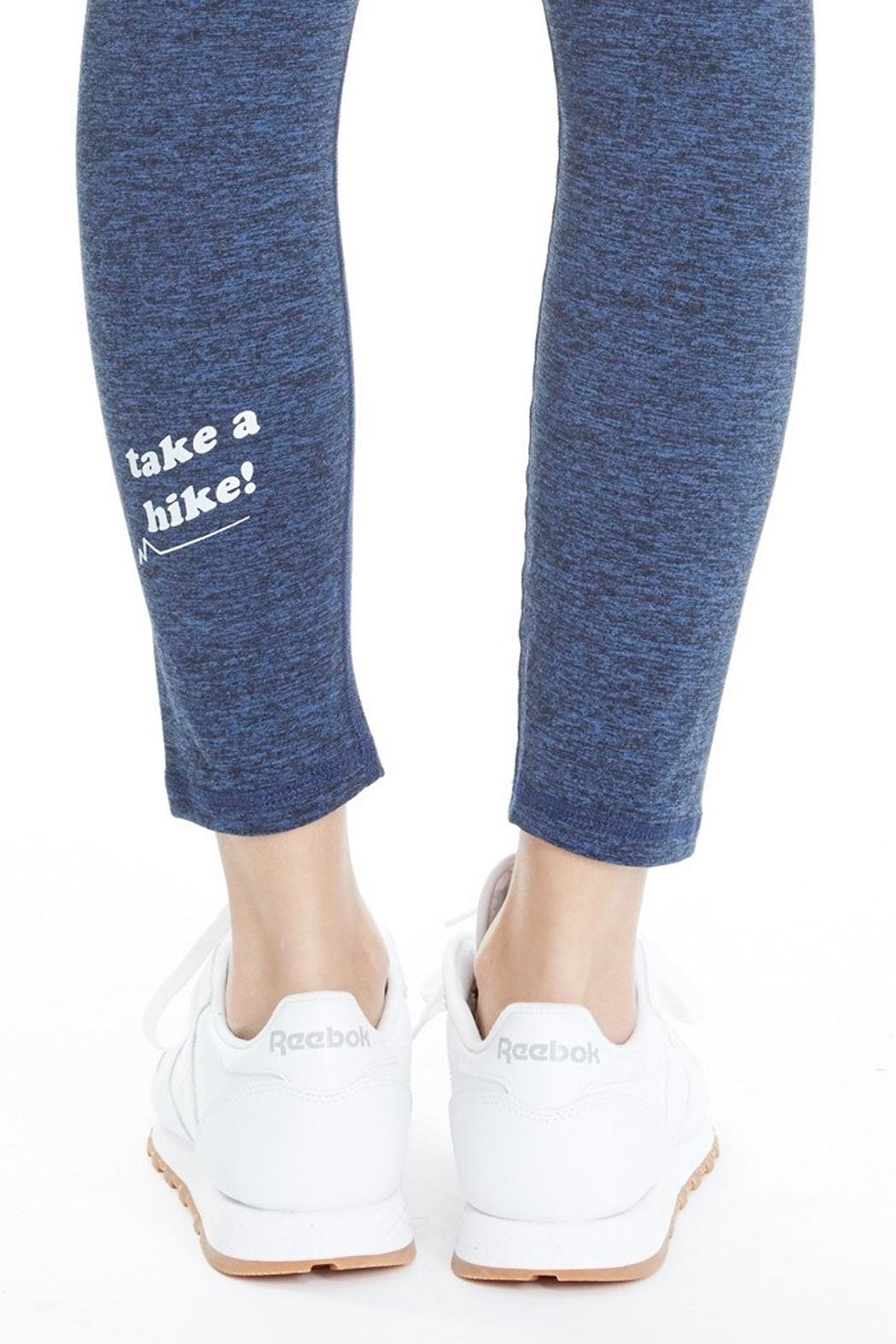 GoodhYOUman Blue Logan Legging - Back Cropped Image