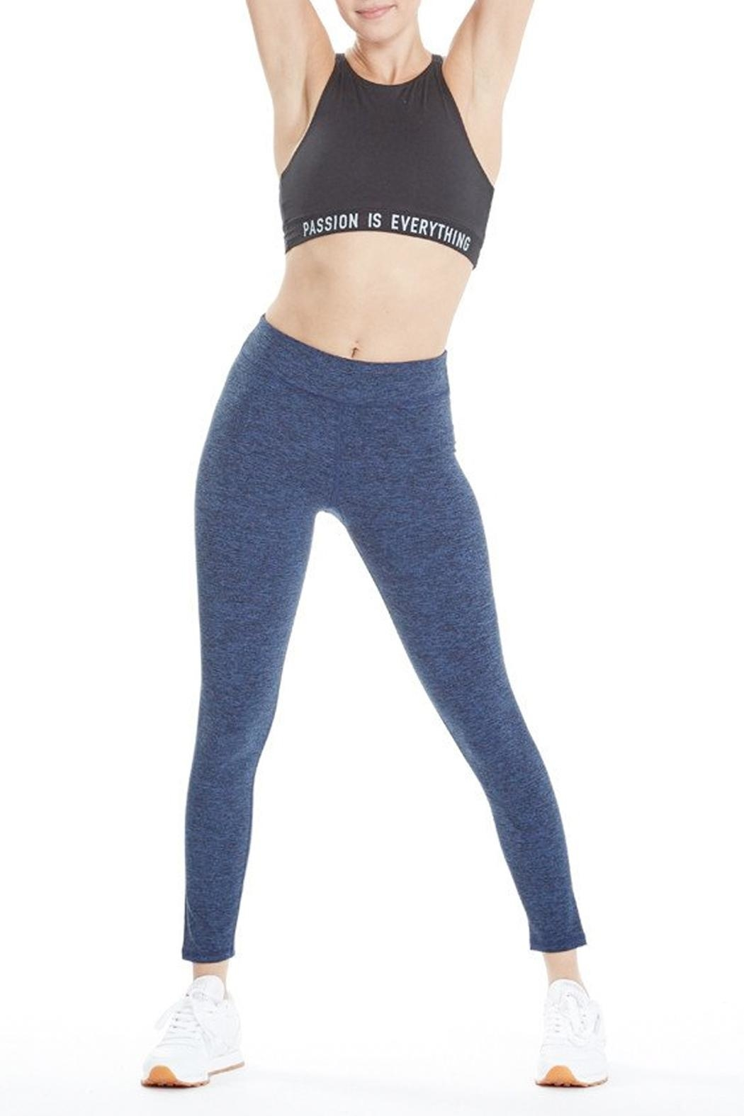 good hYouman Blue Logan Legging - Side Cropped Image