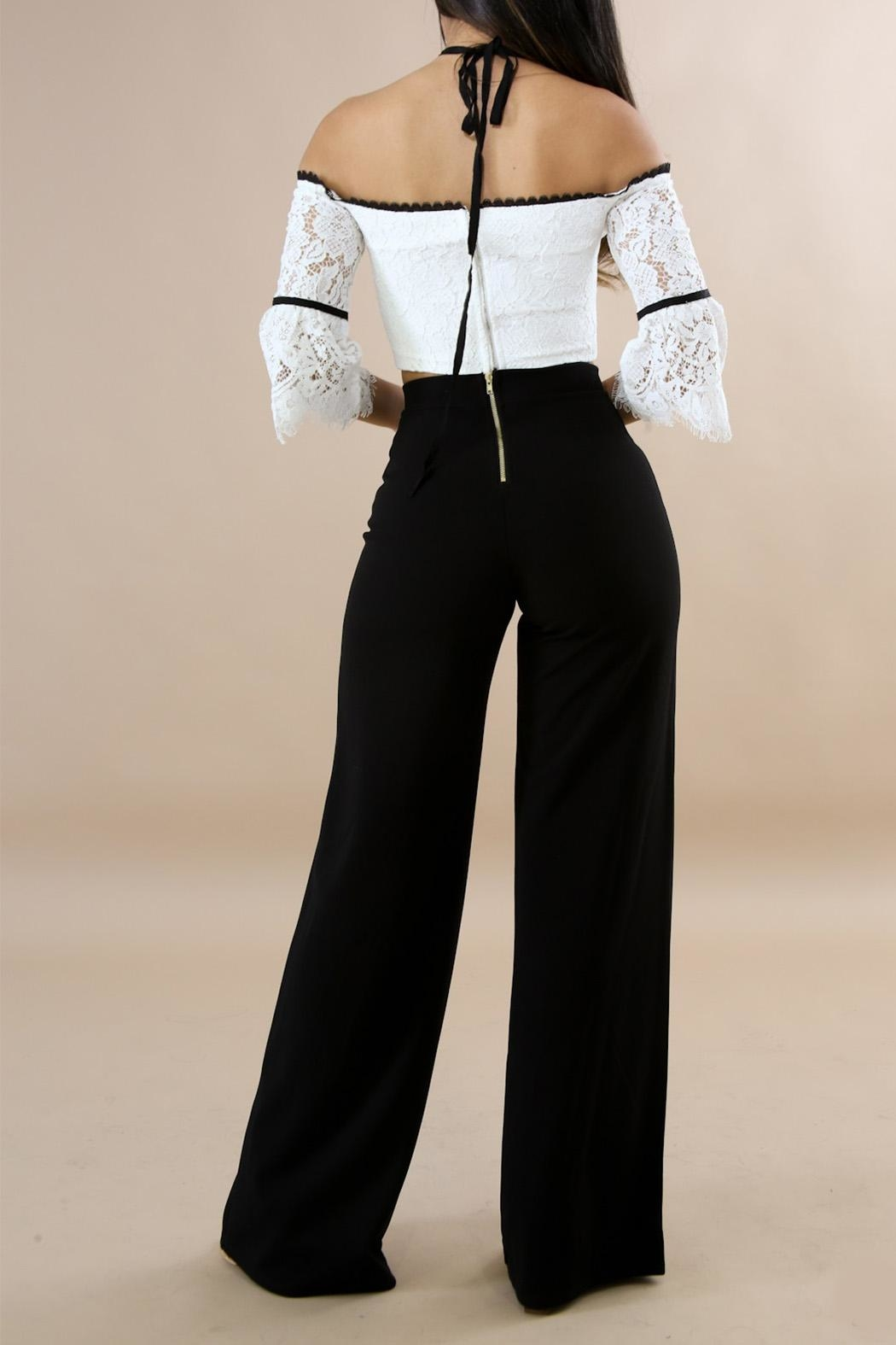 Good Time Classic Palazzo Pants - Side Cropped Image