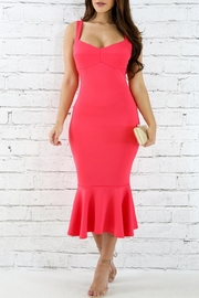 Good Time Coral Flare Dress - Product Mini Image