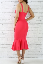 Good Time Coral Flare Dress - Front full body