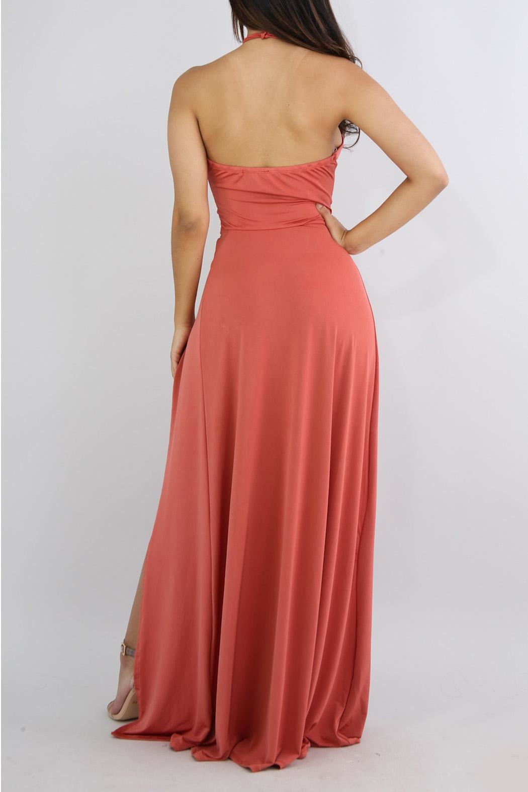 Good Time Coral Maxi Dress - Side Cropped Image