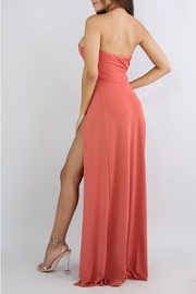 Good Time Coral Maxi Dress - Front full body