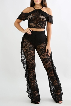 Shoptiques Product: Lace Ruffle Sets