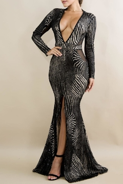 Shoptiques Product: Lace Sequin Dress