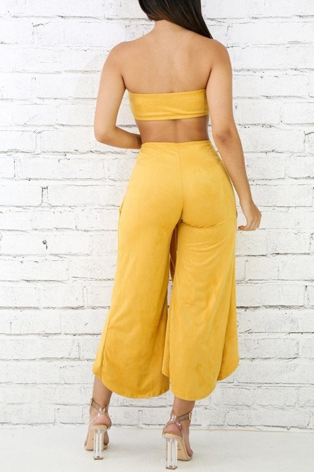 Good Time Mustard Suede Set - Side Cropped Image