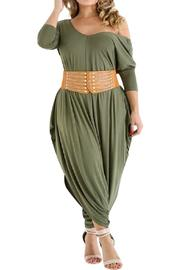 Good Time Olive Batwing Jumpsuit - Product Mini Image