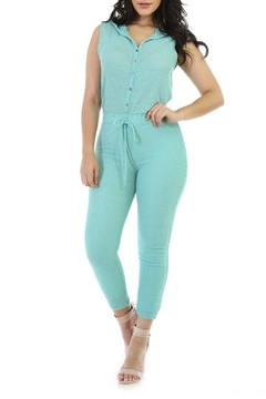 Good Time Ribbed Knit Jumpsuit - Product List Image
