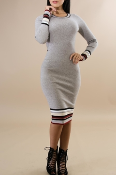 Shoptiques Product: Ribbed Midi Dress