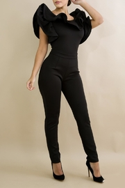 Good Time Ruffle Neck Jumpsuit - Front cropped