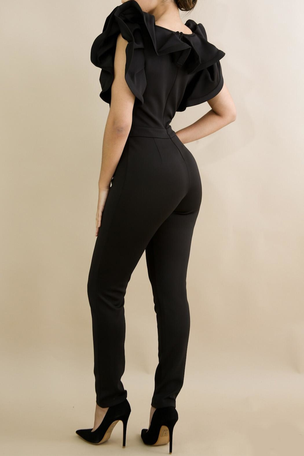 Good Time Ruffle Neck Jumpsuit - Front Full Image