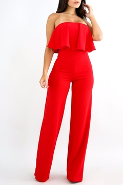 Good Time Ruffle Strapless Jumpsuit - Product List Image