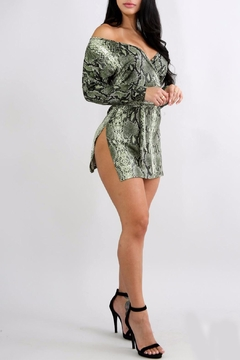 Shoptiques Product: Snake Print Mini Dress