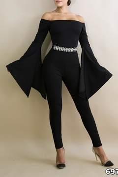 Good Time Techno Crepe Jumpsuits - Product List Image