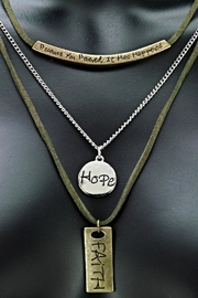 GOOD WORKS Trinity Necklace - Front cropped