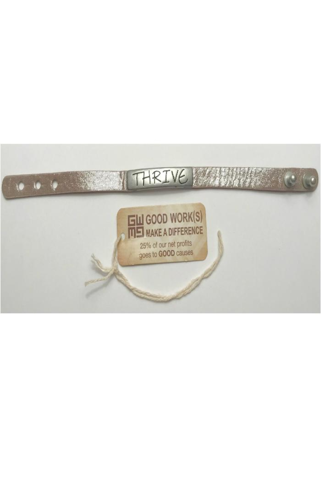 GOOD WORKS Good-Works Thrive Leather-Bracelet - Front Cropped Image