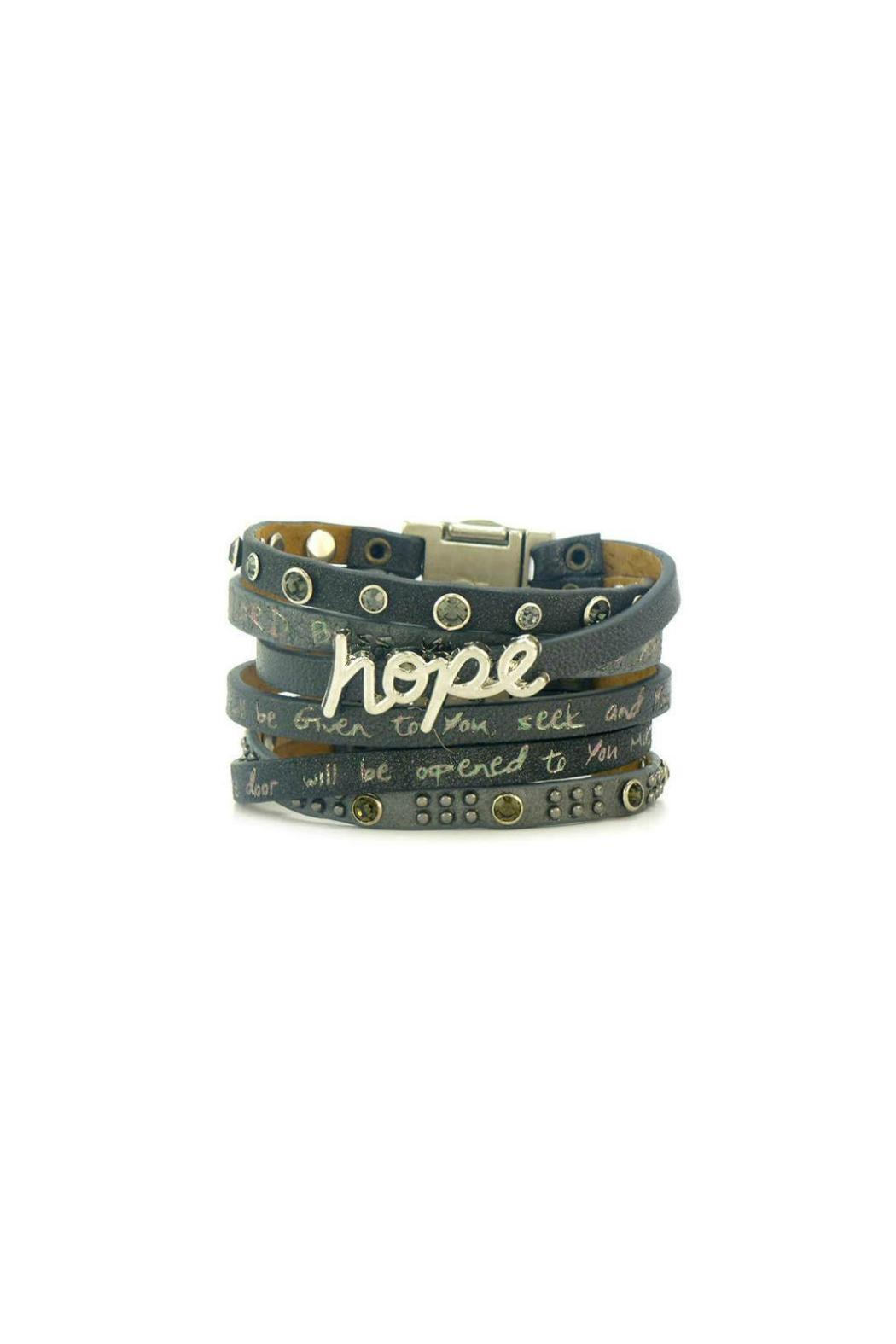 Good Works Hope Leather Bracelet Front Cropped Image