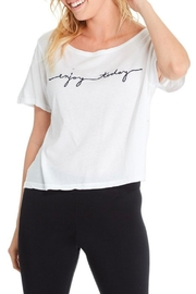 GoodhYOUman Payton Crop Tee - Front cropped