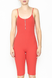 Goodtime Bandage Tomato Jumpsuit - Front full body