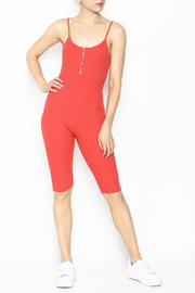 Goodtime Bandage Tomato Jumpsuit - Product Mini Image