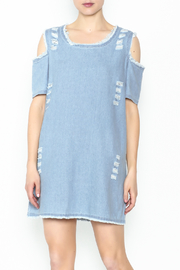 Goodtime Denim Tunic Dress - Front cropped