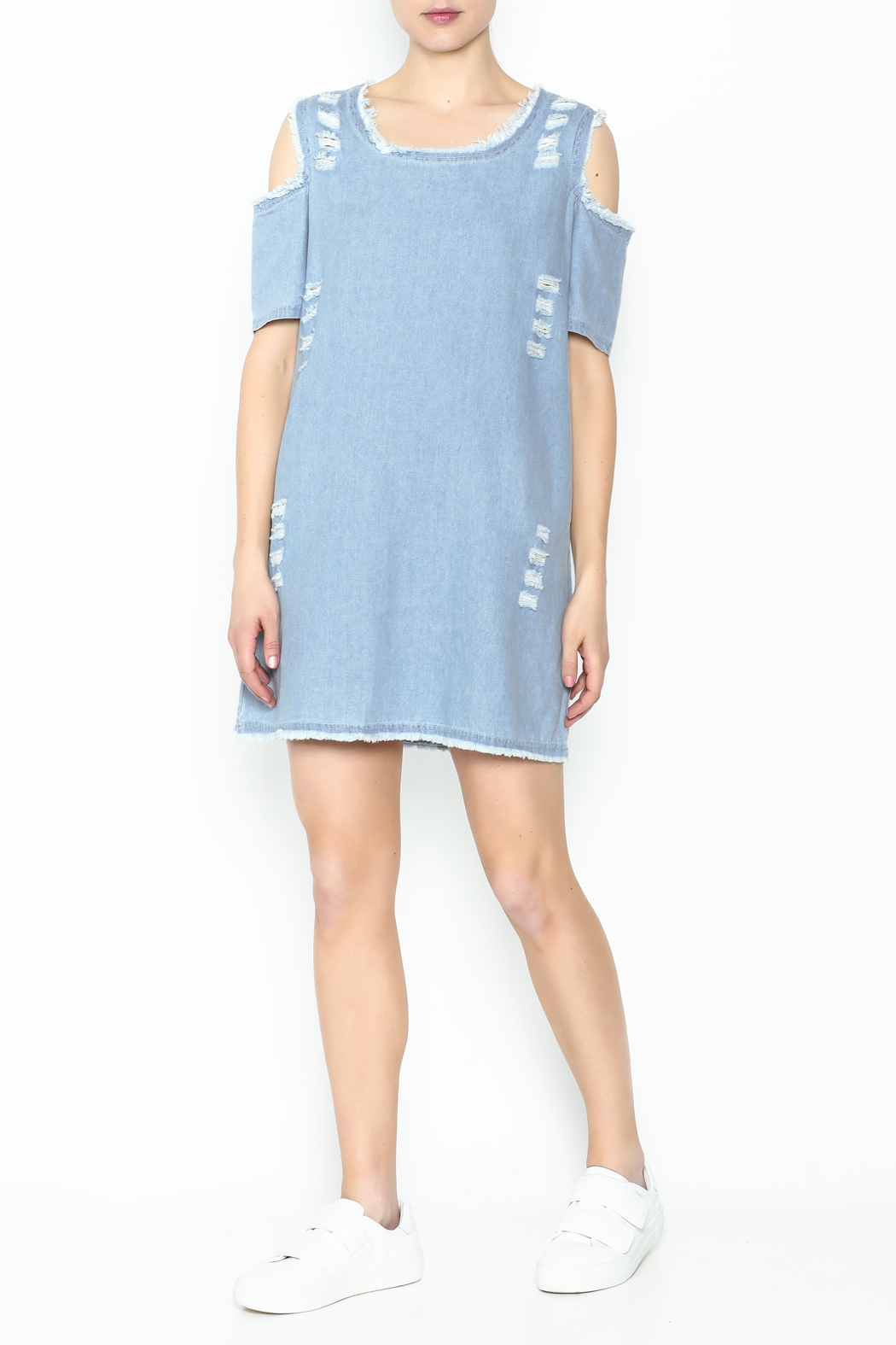 Goodtime Denim Tunic Dress - Side Cropped Image