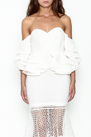 Goodtime Fishnet Off Shoulder Dress - Front full body