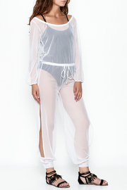 Goodtime Mesh Coverup Jumpsuit - Product Mini Image