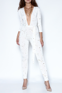 Shoptiques Product: White Dew Drop Jumpsuit