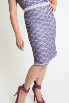 Shoptiques Product: Purple Lace Skirt