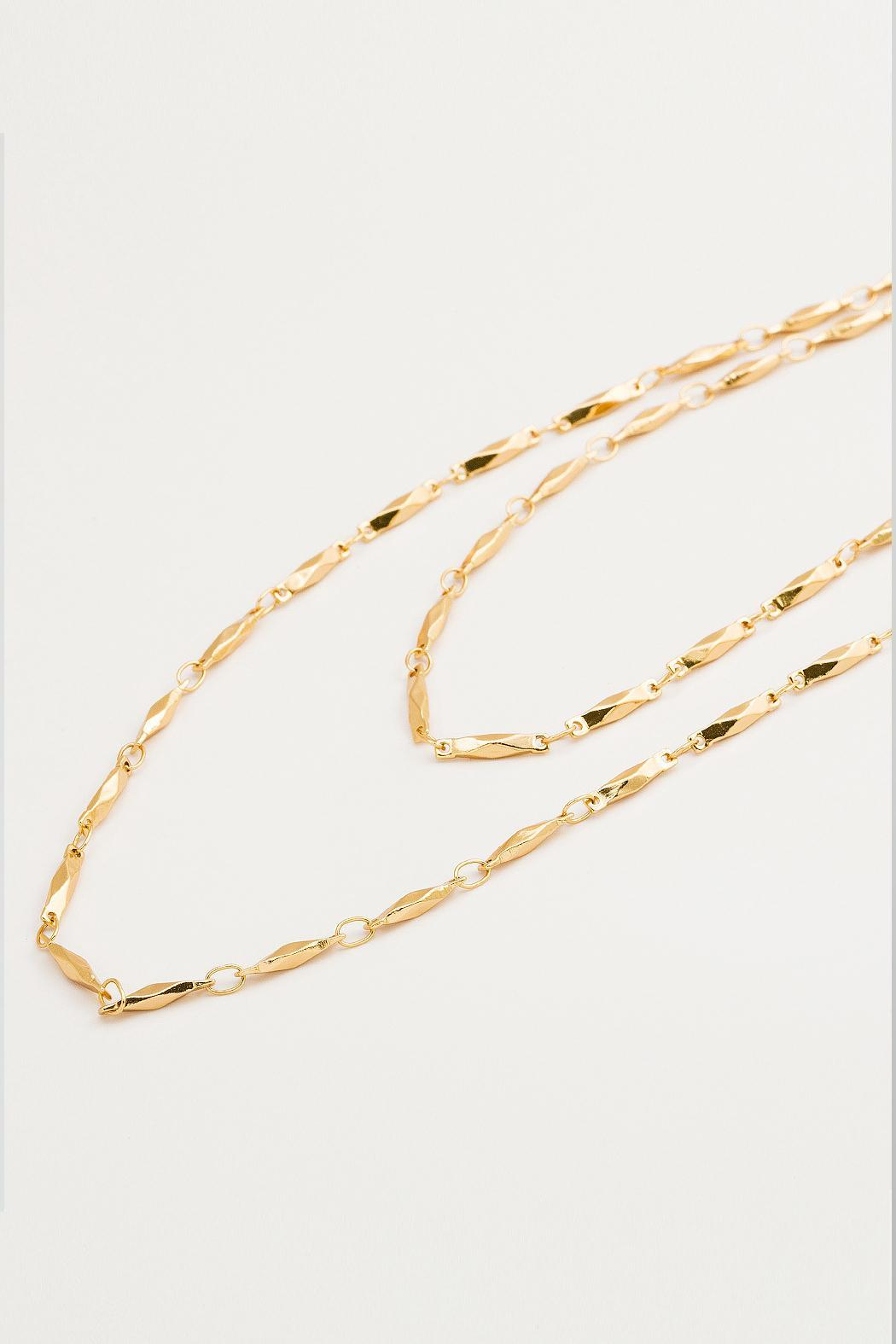 Gorjana Faceted Wrap Necklace - Front Cropped Image