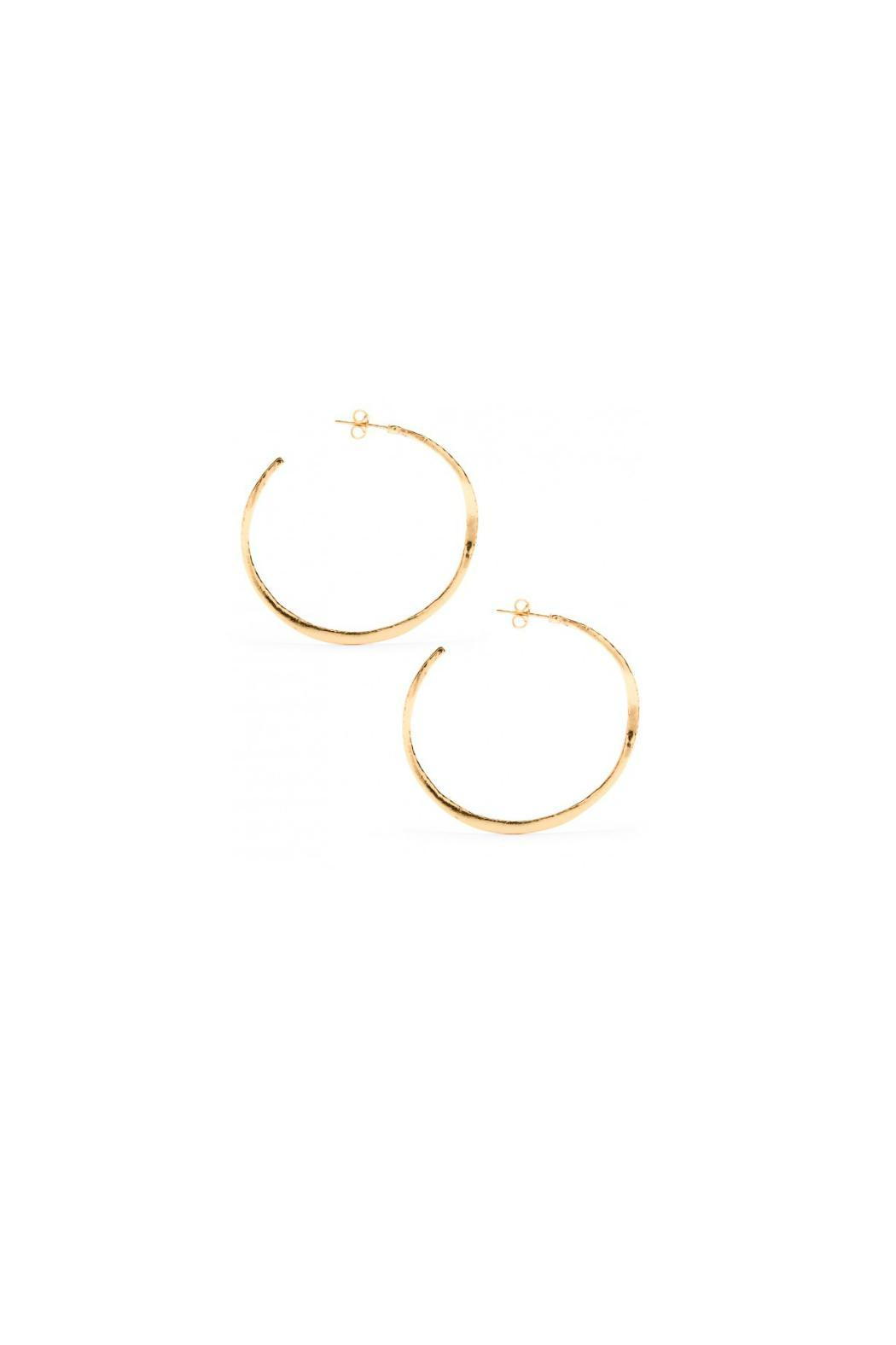 Gorjana Gold Arc Hoops - Front Cropped Image