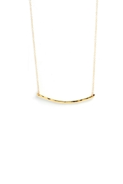 Gorjana Hammered Bar Necklace - Product Mini Image