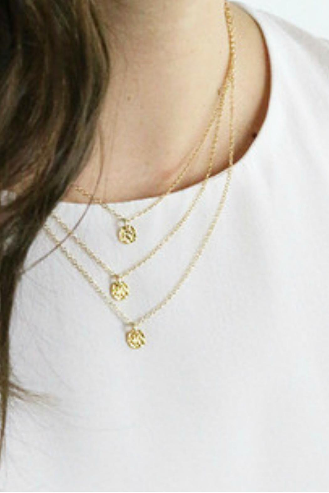 necklace with initial gold rose emmylowephotomadebymary circler by mary products disc personalized made