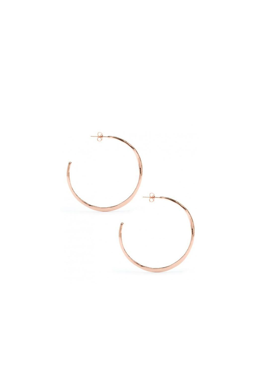 Gorjana Rose Gold Hoops - Front Cropped Image