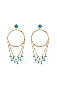 Shoptiques Product: Turquoise Chandelier Earrings