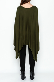 Got Style Olive Sleeveless Poncho - Back cropped