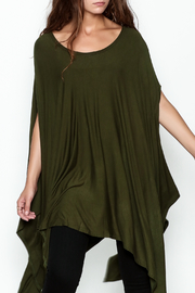 Got Style Olive Sleeveless Poncho - Front cropped
