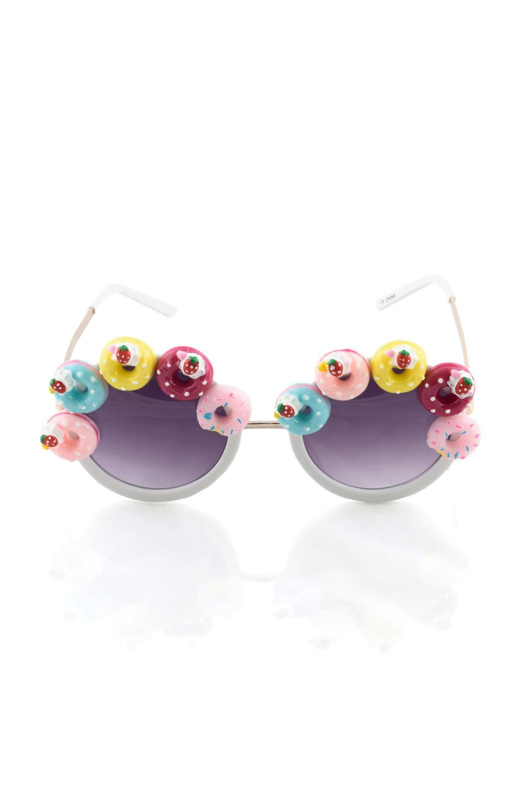 GotPurseonality Sprinkle Donut Sunglasses - Front Full Image