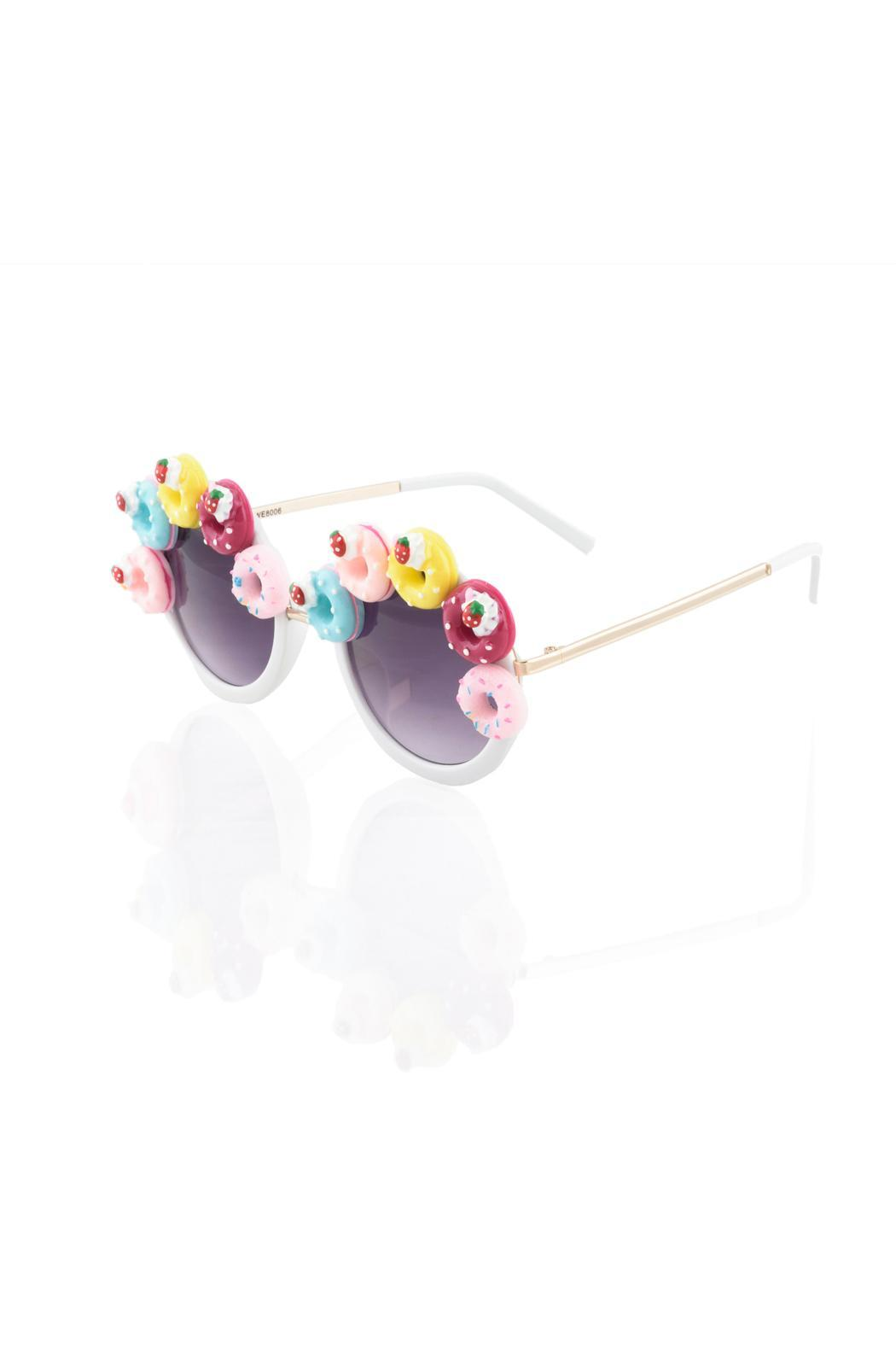 GotPurseonality Sprinkle Donut Sunglasses - Side Cropped Image