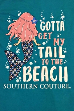 Southern Couture Gotta-Get-My-Tail-To-The-Beach Youth Tee-Shirt - Alternate List Image