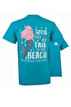 Shoptiques Product: Gotta-Get-My-Tail-To-The-Beach Youth Tee-Shirt
