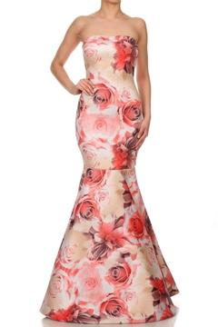 Gowntastic/VaVaVoom Mermaid Floral Gown - Product List Image