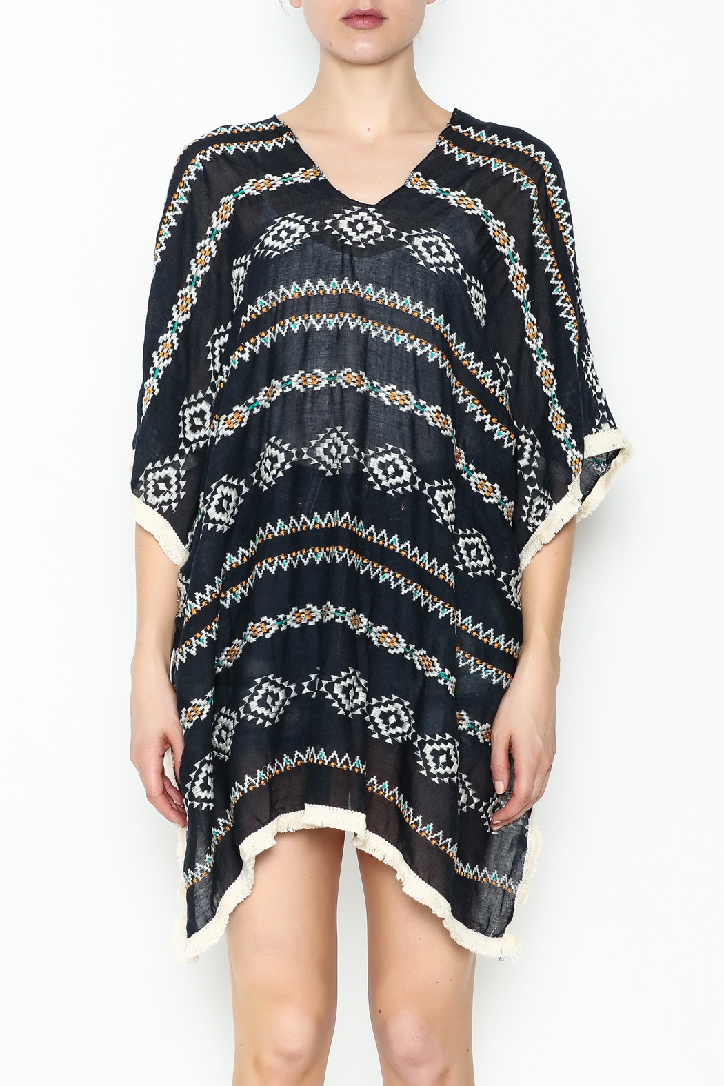 Grace & Emma Aztec Cover Up - Front Full Image