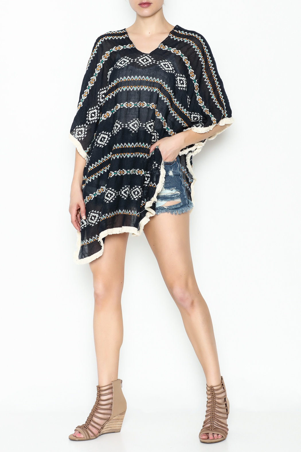 Grace & Emma Aztec Cover Up - Side Cropped Image