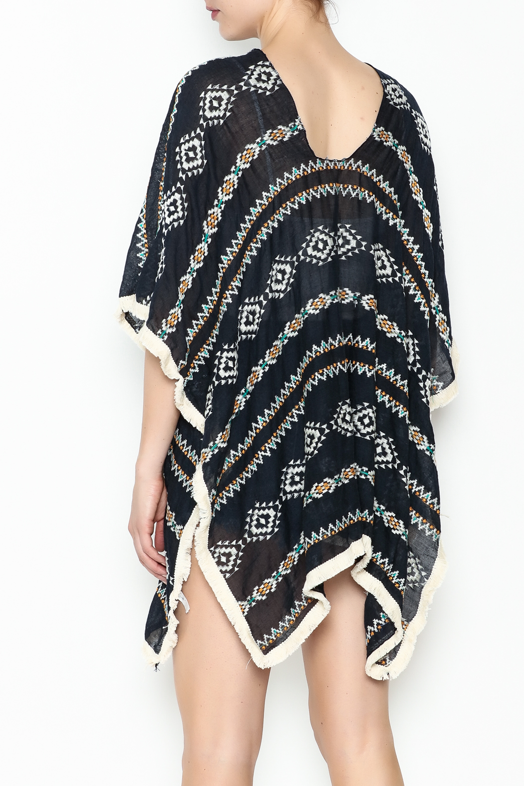 Grace & Emma Aztec Cover Up - Back Cropped Image