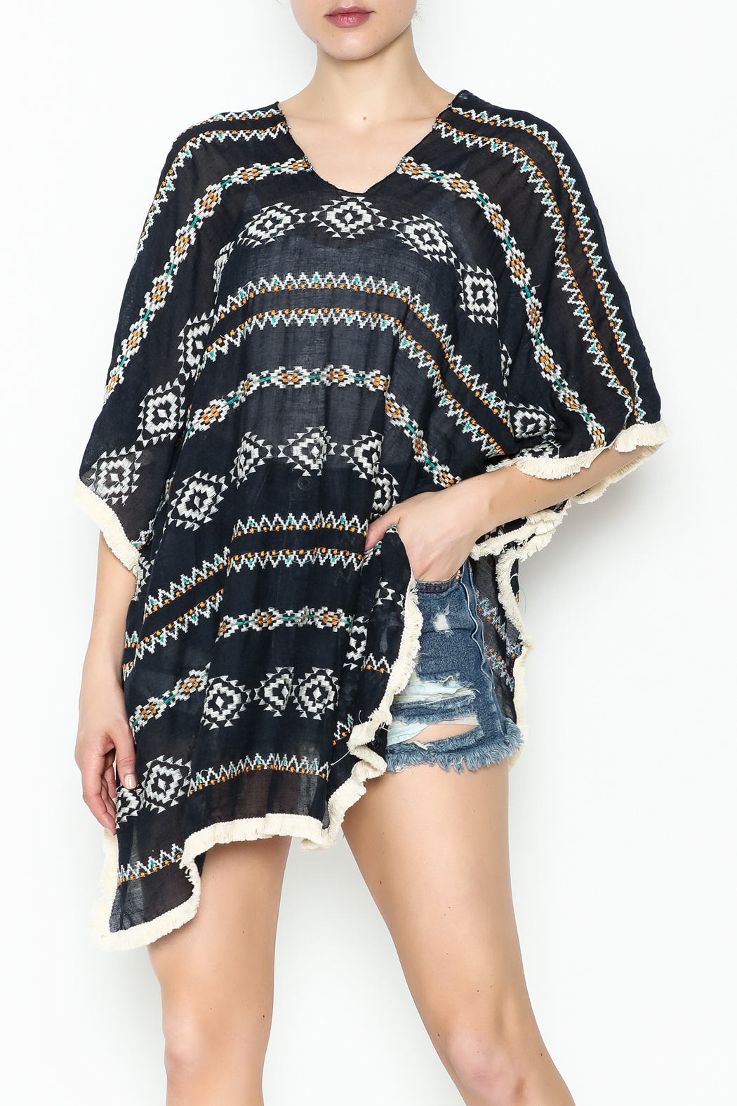 Grace & Emma Aztec Cover Up - Front Cropped Image